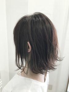 外ハネボブ☆インナーカラー(バックスタイル)
